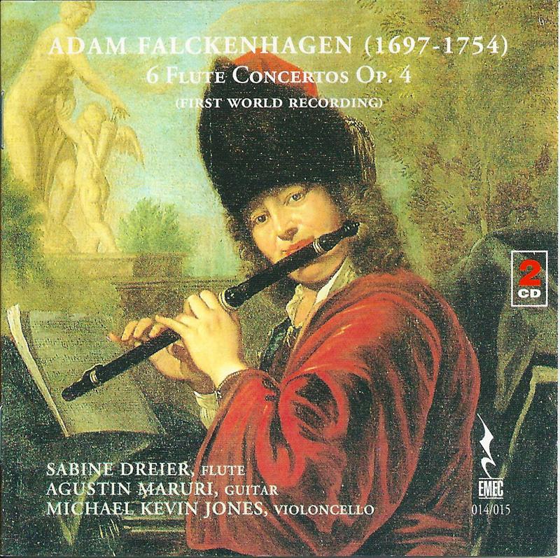 ADAM FALCKENHAGEN-6 Flute concertos Op. 4