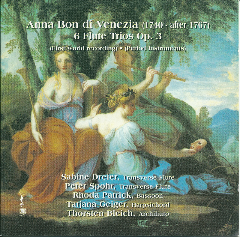 ANNA BON DI VENEZIA-6 Flute Trios Op.3