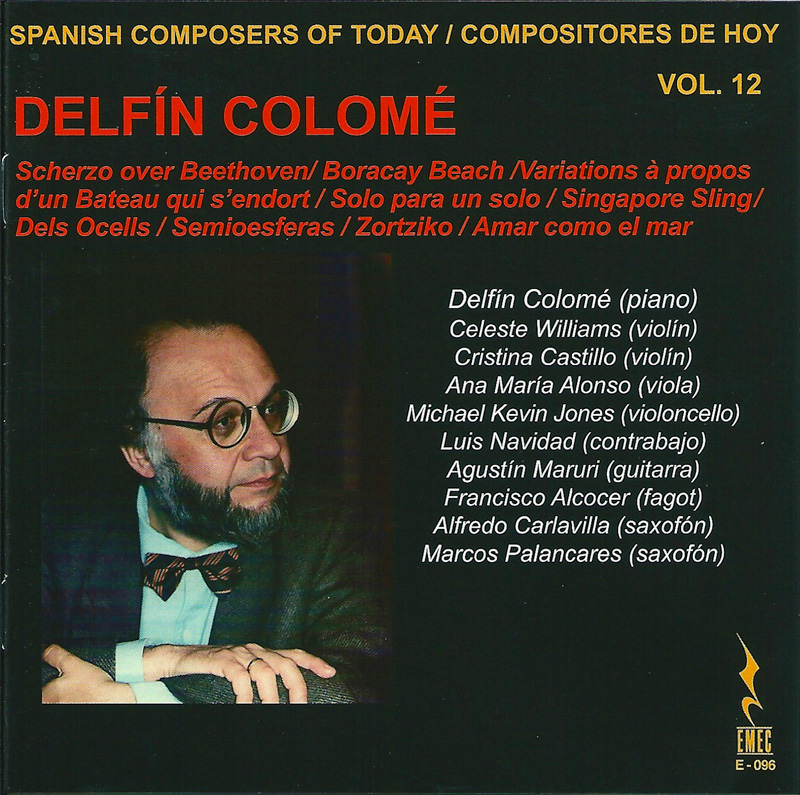 COMPOSITORES DE HOY VOL.12-DELFÍN COLOMÉ