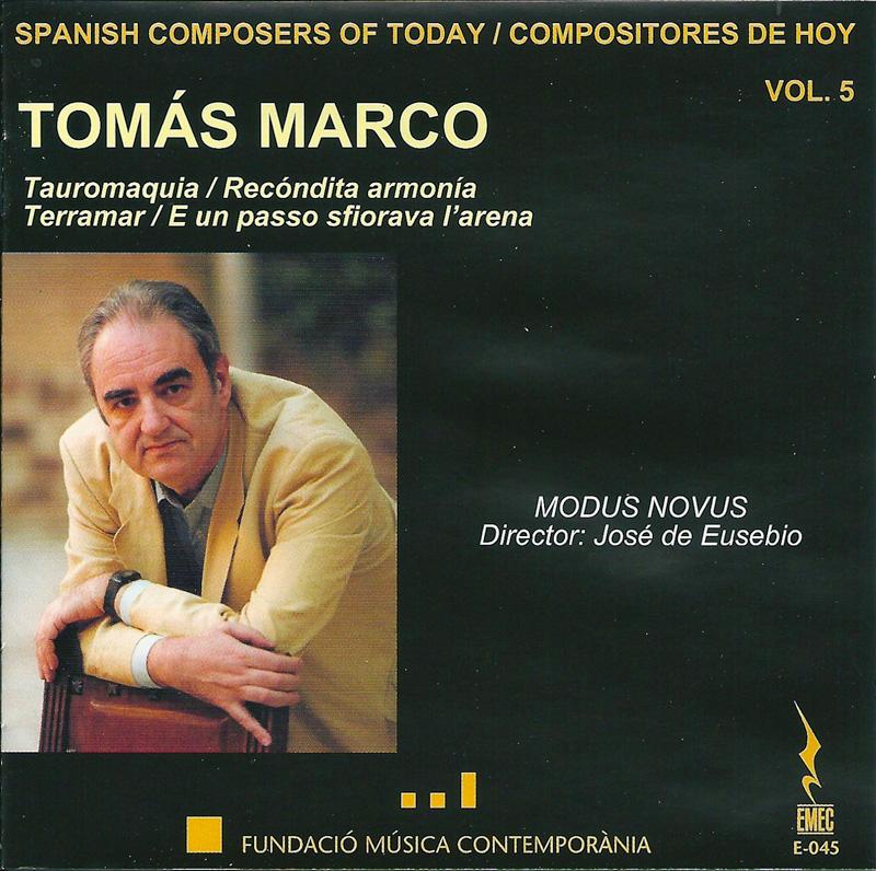 COMPOSITORES DE HOY VOL.5-TOMÁS MARCO