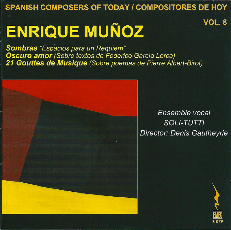 COMPOSITORES DE HOY VOL.8-ENRIQUE MUÑOZ