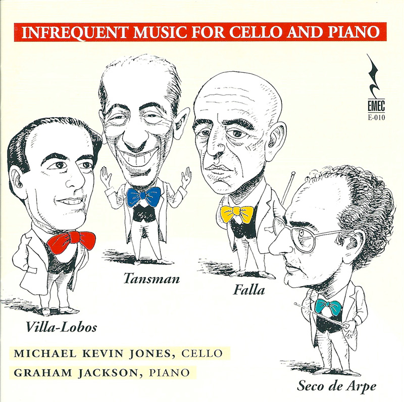 INFRECUENT MUSIC FOR CELLO AND PIANO