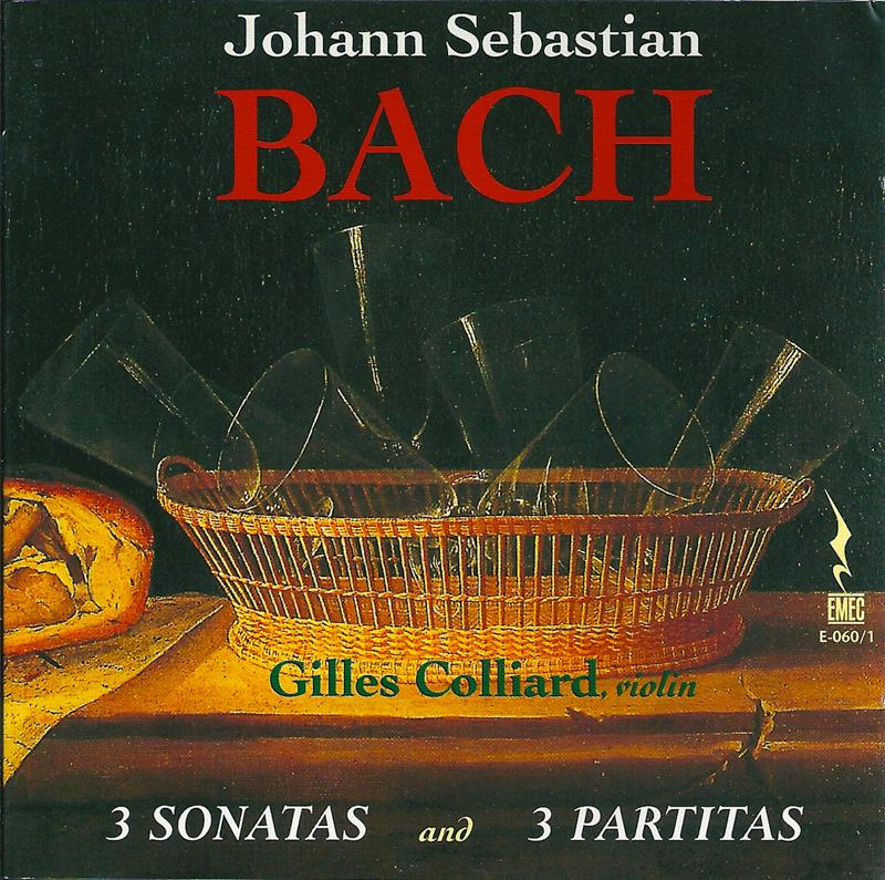 JOHANN SEBASTIAN BACH-3 sonatas and 3 partitas for solo violin