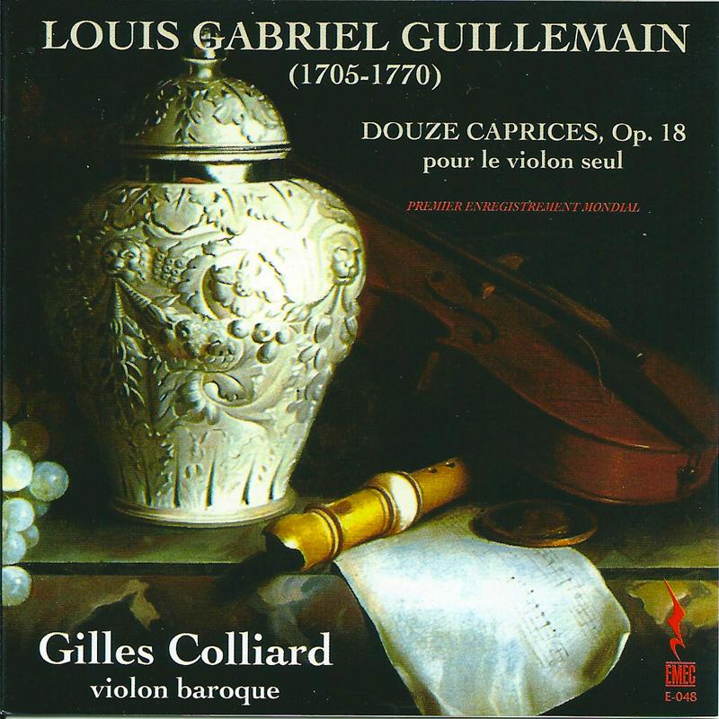 LOUIS GABRIEL GUIILLEMAIN-DOUZE CAPRICES, OP. 18 pour le violon seul