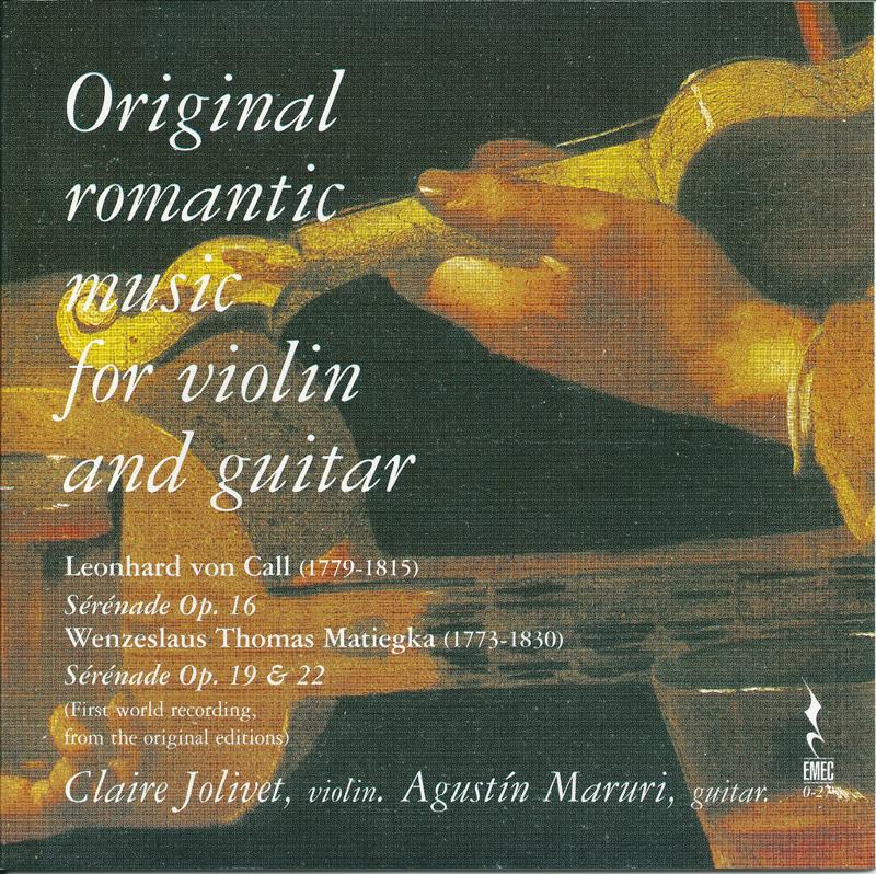 ORIGINAL ROMANTIC MUSIC FOR VIOLIN AND GUITAR