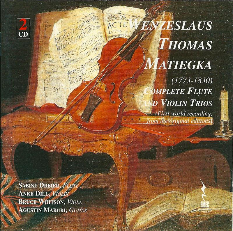 WENZESLAUS THOMAS MATIEGKA-Complete Flute and Violin Trios
