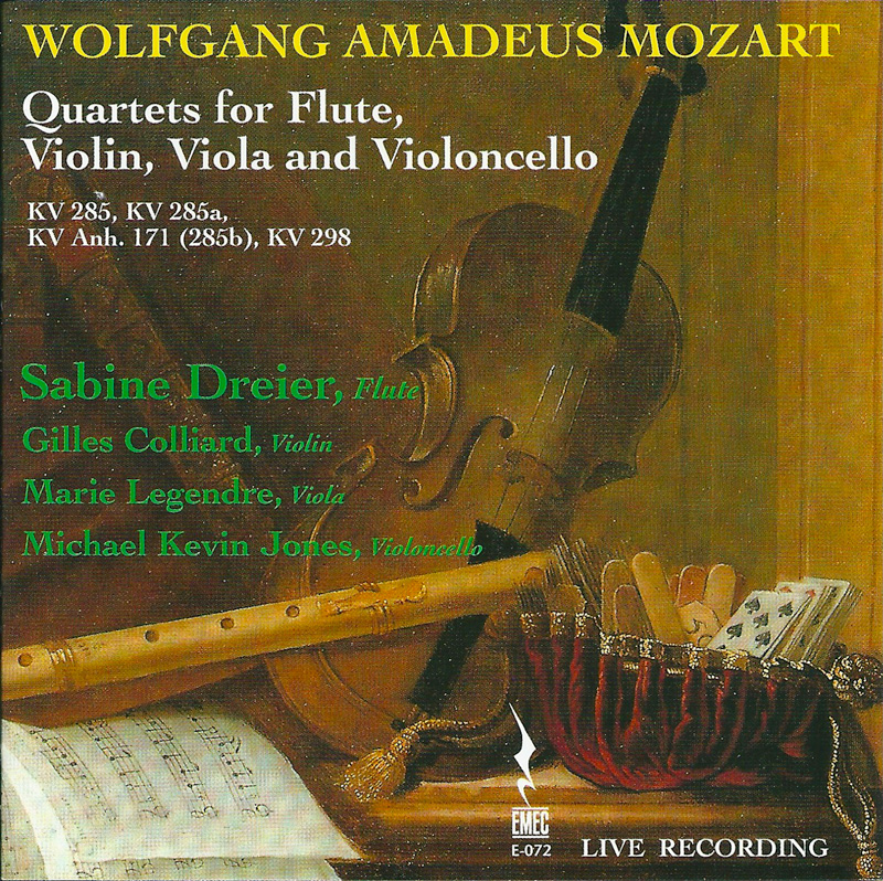 WOLFGANG AMADEUS MOZART. Quartets for Flute, Violi, Viola and violoncello
